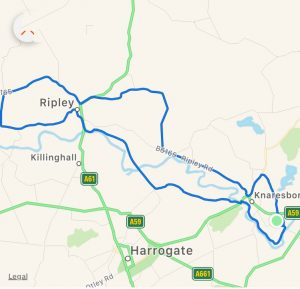 favourite cycling route yorkshire and the humber map
