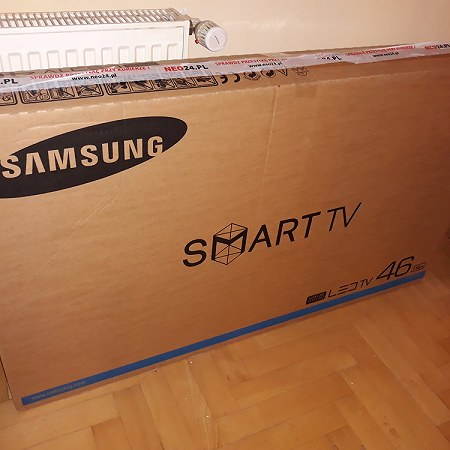tv in original box