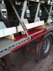 Printing press shipping.