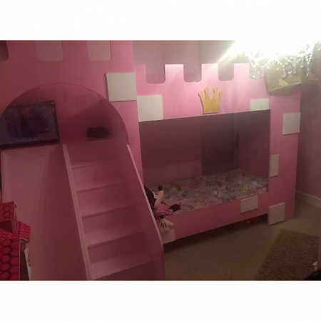 Princess bed with stairs and ladder
