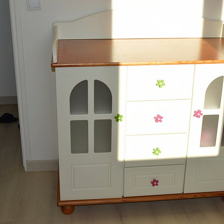 Kid's furniture: single bed with mattress, commode, high cupboard