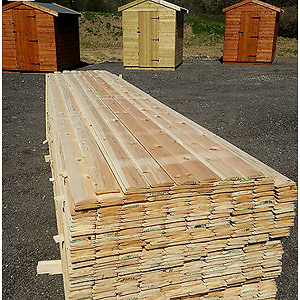 Delivery Pallet of wood cladding
