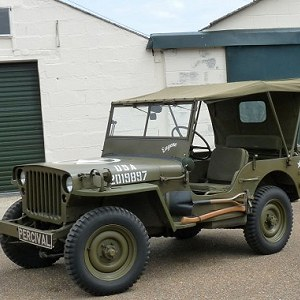 Delivery Willys Jeep (old timer)
