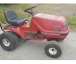 Ride-on mower but without cutting unit and without grass collector