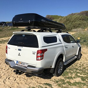 Delivery Mitsubishi L200 with Roofbox (approx. 2,4m high)