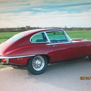 Delivery Jaguar e type 4.2 Coupe.