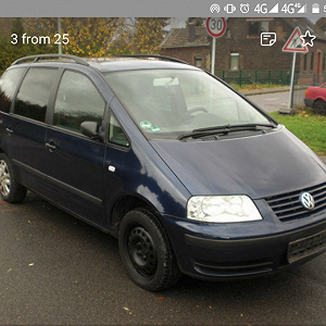 Delivery Volkswagen Sharan