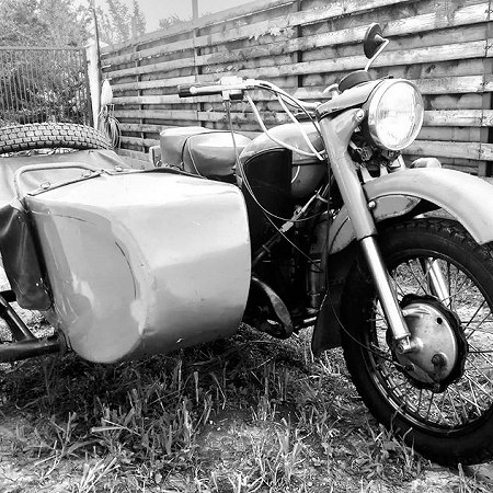 Ural with sidecar