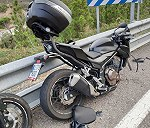Honda cb500f accidentada